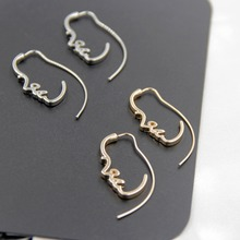 free shipping 6 pair /lot fashion jewelry Artistic Temperament Face Earrings(China)