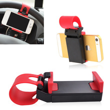 3pcs Car Accessories Universal Car Steering Wheel Mobile Phone Holder Bracket for iPhone Galaxy S4 S5 GPS PDA HTC MP4(China)