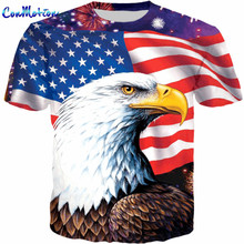 ConMotion Cool American Flag Eagle Print 3D T shirt(China)