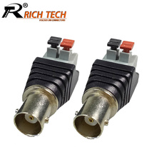 Buy 10pcs/lot BNC Jack Terminal Camera CCTV BNC Female UTP Video Balun Connector AV Cable Adapter Socket Pressed Connected CCTV for $10.15 in AliExpress store