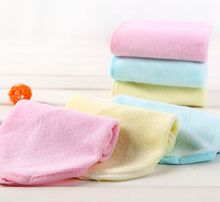 10pcs/lot 100% Bamboo Towel Soft Small Hand Towels For Baby Face washcloth pink/blue/yellow