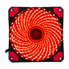 120mm PC Computer 16dB 33 LEDs Case Fan Heatsink Cooler Cooling with Anti-Vibration Rubber,12CM Fan,12VDC 3P IDE 4pin red(China)