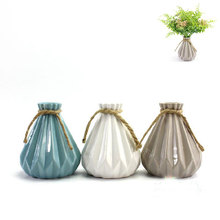 Modern flower pots planters garden decor ceramic pots home decoration wedding party bar decor folding surface ceramic vase