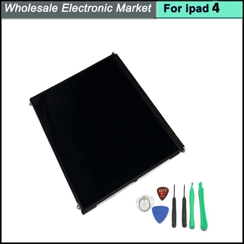 100% Top quality  9.7 LCD display screen For ipad 4 screen with opening tools and 3M Adhesive free shipping<br>