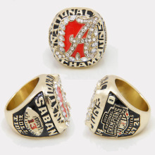 Free Shipping Fashion New Nick Saban Alabama High Quality Replica 2009 National Championship Ring Size 11,Custom  is Accept