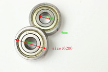 2pc Deep Groove Ball Bearing Miniature 6200-2RS 6200 2RS ABEC-3 Size 10x30x9mm Lowest Price High Quanlity
