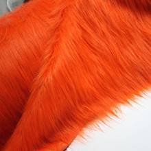 "Orange Solid Shaggy Faux Fur Fabric (long Pile fur)  Costumes  Cosplay Cloth  36""x60"" Sold By The Yard  Free Shipping"