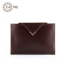 EACME Classic Envelope Bags Day Clutch Men Women Document Bags Thin Purse Black Hand Bag Men's A4 Bags Hasp Handbag for Party(China)