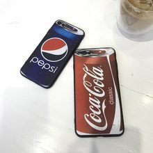 MA The Blue And Red Cola Phone Case Cover For Iphone5 5S SE 6 6S 7 8 Plus X XSmax XR soft cover(China)