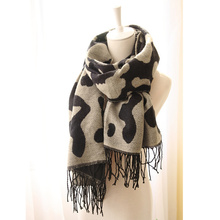 2017 New Women Fashion Tassels Scarf Winter Imitation Cashmere Pashmina Autumn Fall Wool Scarves Cow Print Leopard Cape Fringed