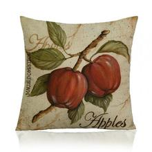 American Style Retro Fruit Flowers Printing Soft Short Plush Throw Pillow Mediterranean Nordic Cushion For Home Chair