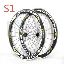 AWST bicycle carbon wheels aluminun rim 50mm clincher road bike wheels alloy surface 700C cycling wheels made in taiwan wheelset