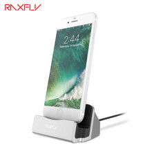 RAXFLY Sync Data Charging Dock Station For iPhone 6 6s 7 7 Plus 5 5s SE Desktop Phone Charger For iPhone 7 6 6s Plus For iPad
