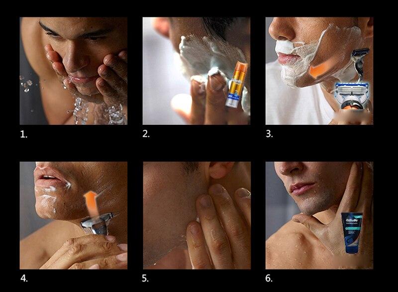 9 Gillette Fusion Proglide Flexball Power Razor Electric Shaving Razors Blades for men Safety Shave Men\'S Beard Shaver 1 Holder 5 Blade
