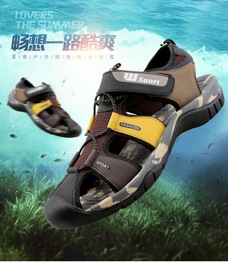 Leader Show Men Fashion Casual Shoes Summer New Adult Outdoor Beach Shoes High Quality Comfortable Man Baotou Sandals Breathable 20 Online shopping Bangladesh