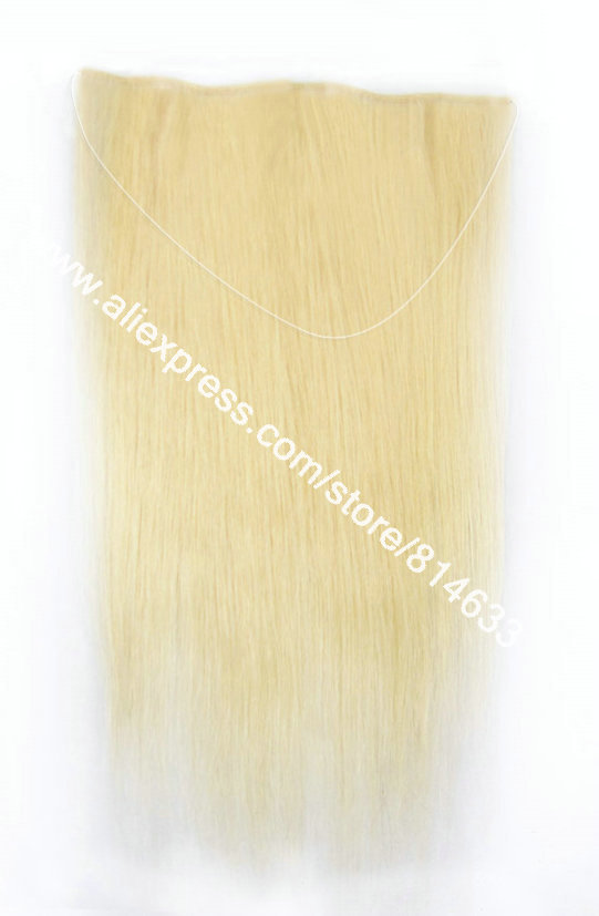 12~24 Straight #60 Platinum Blonde 100% Indian Virgin Remy Hair The Queen of Hair Extension Easy to Wear Flip-in Hair Extension<br><br>Aliexpress