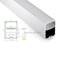 10 X 2M Sets/Lot U Led aluminium extrusion channel profiles with light diffuser strip Cover for pendant or suspension lights(China)