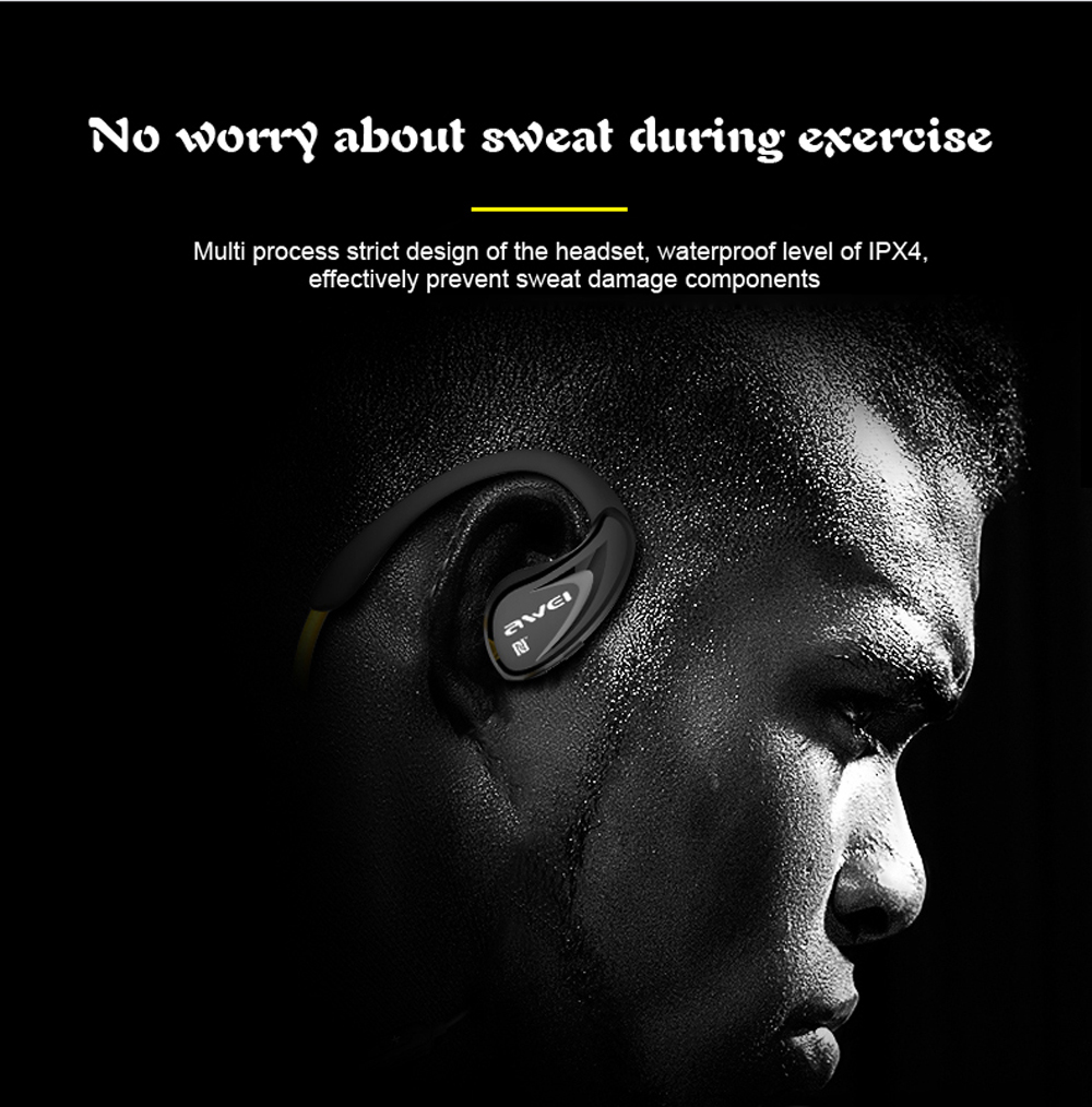 Bluetooth V4.0 Headphone Awei A880BL NFC Wireless Earphones with Microphone Sports Stereo Headset for Smartphone PC auricular