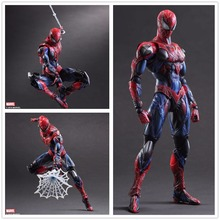 Boxed Play Arts Kai Square Enix Mavel Universe Spiderman Super Hero Doll Movie PVC Action Figure Resin Collection Model Toy Gift