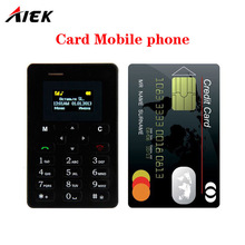 2017 Ultra Thin Card Mobile Phone 4.8mm AIEK M5 AEKU M5 SOYES X6 Low Radiation mini pocket students personality children phone(China)