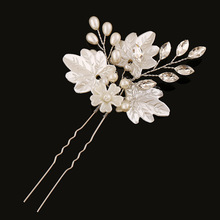 3pcs/lot Korean bride wedding hair accessories handmade pearl flower hairpin u shape acessories de cabelo de noiva