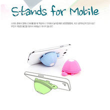 Tmalltide Cute Silicone Turtle Phone Holder Stand  for Iphone 6 6s 7 Plus for Samsung for Xiaomi Earphone Headphone Winder Cable