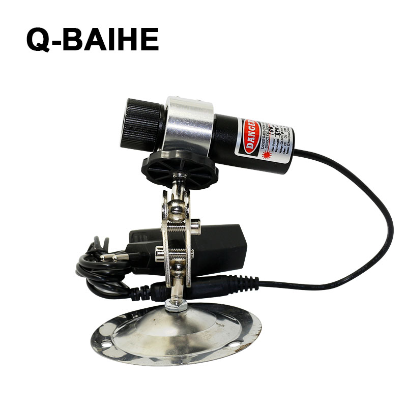 Red laser locator line beam for wood cutting with 360 degree holder EU adapter 650nm 100mW<br>