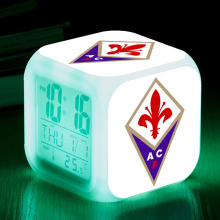 Italian Football Club LED alarm clock ACF Fiorentina Soccer Team reloj despertador Digital clock reveil projection Watch Toys(China)