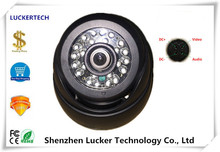 Luckertech 4Pin Aviation Plug Black Infra-red Dome Camera 520TVL DC9V-36V NightVision For Bus CCTV Security Vechile Survillance(China)