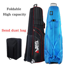 Golf ball bag Golf aviation package bag Send dust bag Thick waterproof nylon material+Thickened cotton+Chassis Easy to fold(China)