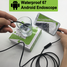 7mm Lens MircoUSB Android OTG USB Endoscope Camera 1M 2M 5M 10M Waterproof Snake Pipe Inspection Android USB Borescope Camera(China)