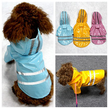 Waterproof Pet Dog Clothes for Dog Jacket Small Dog Raincoat Hoodie New Rain Overcoat Fashion Chihuahua Pet Clothing 9BY40