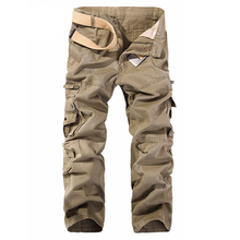Men Cargo Pants Hot Sale Plus Size 28-40 Loose Pantalon Homme Military Trousers Army Brand Clothing Casual Work Pants Men 015