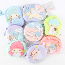 Japan Sanrio Hello Kitty Little Twin Star Plush Toys Fashion Doll Melody Coin Purses Toys For Girls Gifts(China)