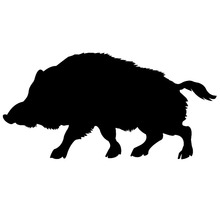 """A Wild Boar Silhouette Car Window Sticker Vinyl Decal Funny Truck Bumper Wall Graphics Computer And All The Smooth Surface """