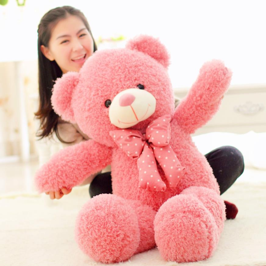 1pcs 1# 80cm Kawaii pink teddy bear Gaint bear girls baby toys bear Plush A birthday present for girlfriend girls toys<br><br>Aliexpress
