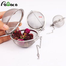 Stainless Steel Locking Spice Mesh Ball Tea Strainer Infuser Filter Herb Spice Diffuser Health Care Products Flowers Tea Tools(China)