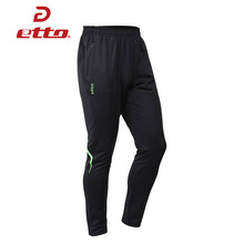 Etto 2017 Professional Tracksuit Trousers Men Soccer Training Pants Slim Skinny Leg Polyester Jogging Football Pants HUC002(China)