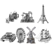 Unique Birthday Gift for Kids 3D Metal Puzzles Cool Famous Construction Design Educational Puzzle Toys