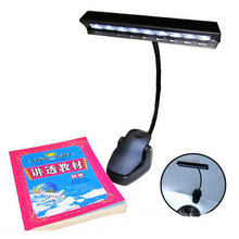Table Lamp 9 LED Clip Light Orchestra Arm Flexible Music Stand Adapter Book Reading Lamp #50582