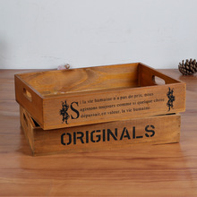 Wooden Storage Cabinet Wood Tray Treasure Chests Vintage Retro Wooden Boxes Jewelry Case Antique Trinket Cosmetic Storage Box