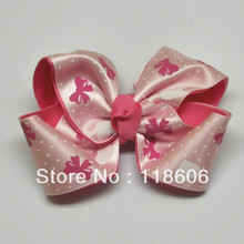 Freeshipping 100pcs/lot New Vintage Double Layered Twisted Hair Bow 100% Handmade Polyester Ribbon