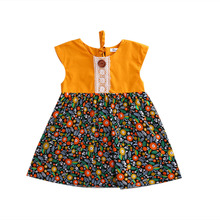 Floral Toddler Baby Kids Girls Summer Flower Sundress Party Dress Clothes Infant Girl Summer Flower Sleeveless Cute Dresses 0-4T(China)