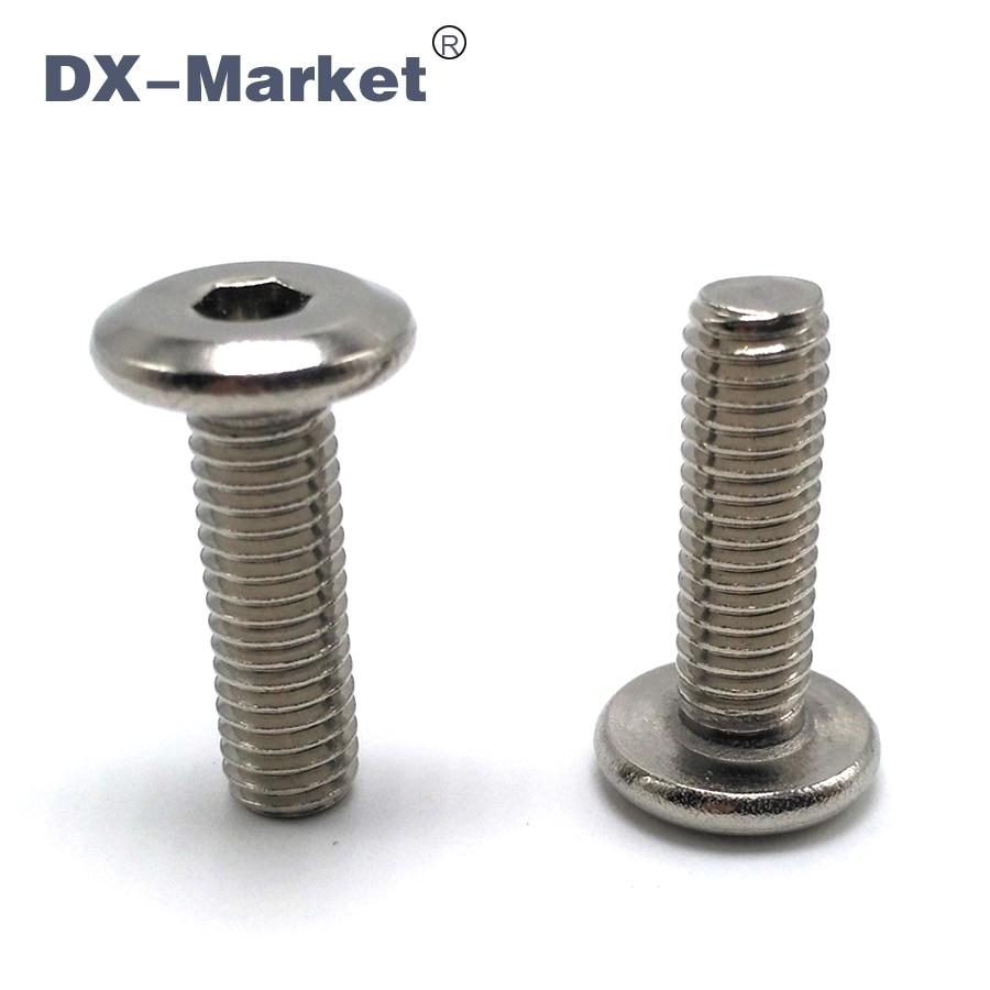 20pcs M6 CM screws Allen thin head bolts flat hex socket screw SUS304 bolt