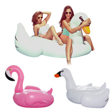 Inflatable Flamingo Pool Float Giant Swan 60inch 1.5M Inflatable Swimming Pool Ring Toys for Adult flotadores para piscina(China)