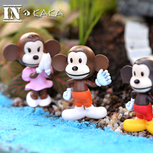Mini lovely monkeys Figures micro fairy garden decoration statuette figurines Toys miniature terrarium dollhouse DIY accessories(China)