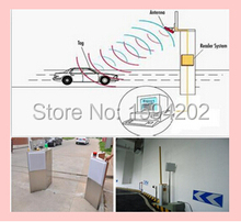 RFID Vehicle car bus access Control middle range long 1-15m passive uhf rfid antenna reader with windshield tag card sample