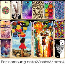 Silicone OR Plastic Mobile Phone Case For Samsung Galaxy Note 2 3 4 N7100 N9000 N9100 Note2 Note3 Note4 Cover Housing Shell