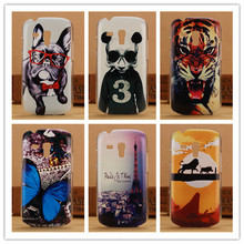 Fashion Animal Pattern Hard Cover Case For Samsung Galaxy S3 mini i8190 Hard Plastic PC Back Cases(China)