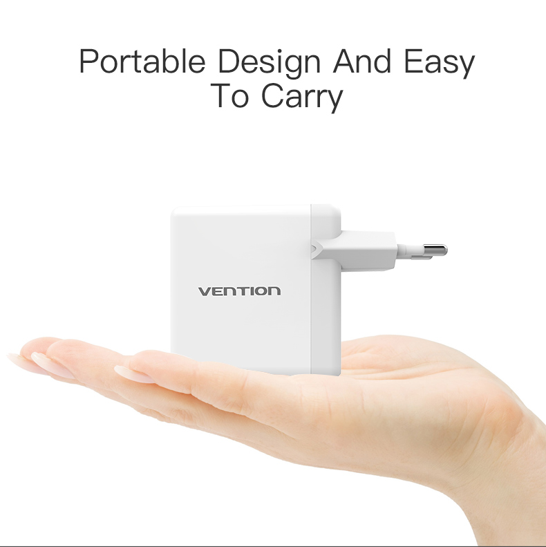 Vention Quick Charger 3.0 2 port USB Charger EU Plug White Mobile Phone Charger For XiaoMi HTC Google QC3.0 Fast Wall Charger